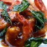 Crevettes au basilic